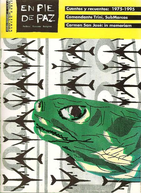 Portada y contraportada de la revista «En pie de paz» nº 38/39 (1995)